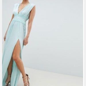 Mint green maxi bridesmaid dress from ASOS